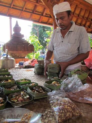 Denpasar - Temple 'Melanting' du marché Badung