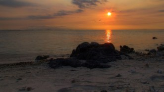 Gili Trawangan - Plage, coucher du soleil