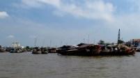 Can Tho - Sur la rivière 'Hau' - Marché flottant 'Cai Rang', la fin