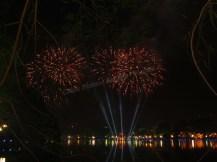 Hanoi - Festival Tet (nouvel an chinois), feux d'artifice au lac 'Hoan Kiem