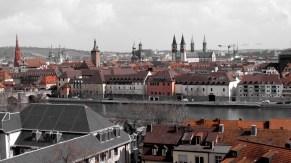 Wurtzbourg - Vue sur la ville