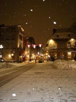 Montréal - La vieille ville sous la neige