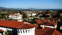 Californie - Santa Barbara - Courthouse, vue depuis le clocher