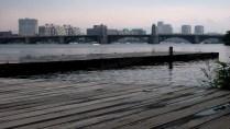 Massachusetts - Boston - Back Bay, promenade le long de Charles River