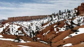 Utah - Parc national Bryce - Fairyland loop, mur de Chine