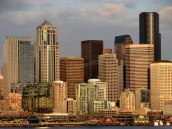 Washington - Seattle - Downtown - Vue sur Seattle depuis le Ferry