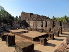 Goa - Old Goa - Eglise de Sainte Augustine, ruines