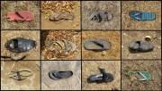 Hampi - Au hasard des chemins, chaussures abandonnées trouvées en un après midi, et elles sont toutes différentes
